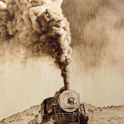 Pyrography Train